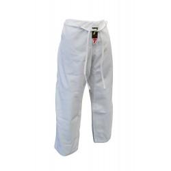 Pantalon judo Lady Master blanco con corte de mujer.