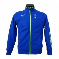 Sudadera chaqueta Mizuno azul