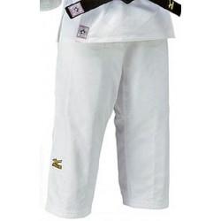 Pantalon Yusho judo competición Mizuno blanco