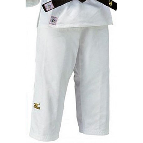 Pantalon judo competición Mizuno blanco