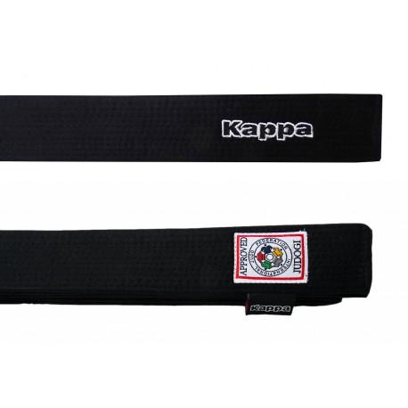 Cinturón KAPPA negro homologado IJF