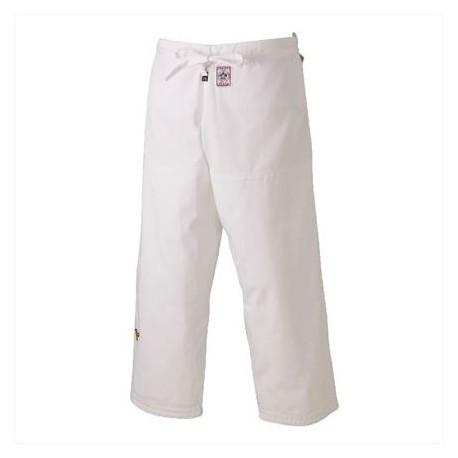 Pantalón judo Mizuno Yusho Best blanco homologado IJF