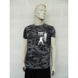 Camiseta camuflaje gris