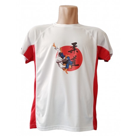 Camiseta blanca roja uchi mata