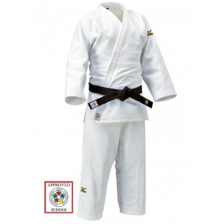 Judogi (chaqueta+pantalón) Mizuno Yusho blanco homologado IJF.