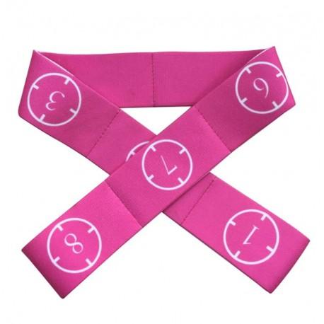 Banda elástica con secciones rosa 9kg