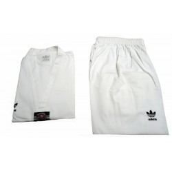 Traje dobok Taekwondo Adidas ELITE, 65% poliester-35% algodón.