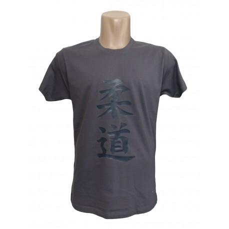 Camiseta Judo Spirt gris plomo