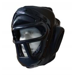 Casco deporte contacto con barras de protección.
