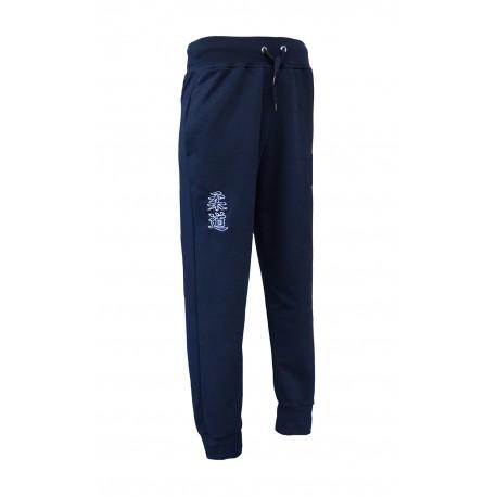 Pantalón felpa Judo azul marino