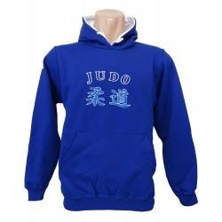 Sudadera azul bordada Judo