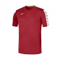 Camiseta Mizuno roja personalizada