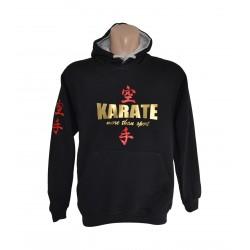 Sudadera negra Karate Do oro