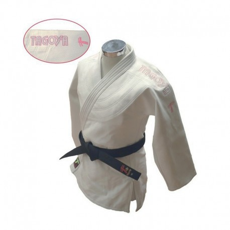 Judogi Lady Pink blanco