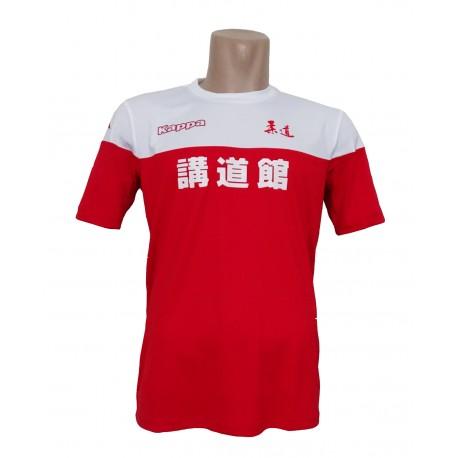 Camiseta Kappa blanca roja Judo