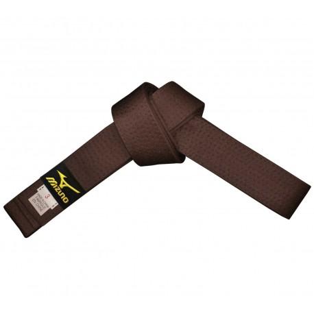 Cinturon marrón MIZUNO, de algodón.