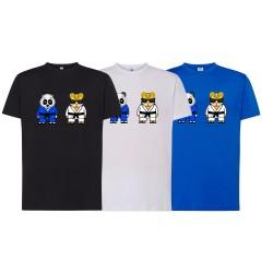 Camiseta judo emoticonos panda y tigre