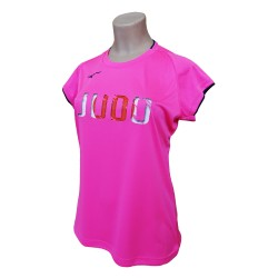 Camiseta Mizuno Core Judo rosa