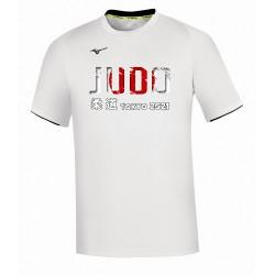 Camiseta Mizuno Core Judo blanca