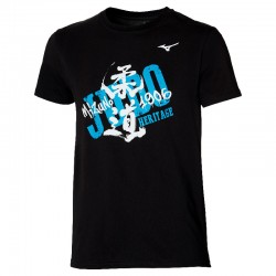 Camiseta Mizuno Heritage negra