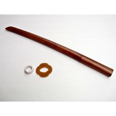 Kodachi de roble marrón con tsuba.