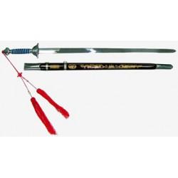 Espada wushu de alta flexibilidad, con vaina.