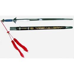 Espada tai chi de flexibilidad normal, con vaina, 96cm
