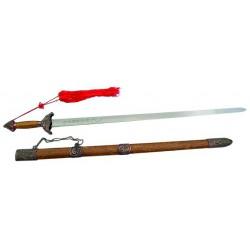 Espada wushu de aluminio con vaina, 96cm.