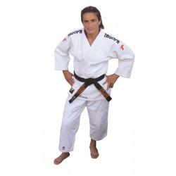 Judogi Lady Grand Master blanco, corte de mujer (entallado)