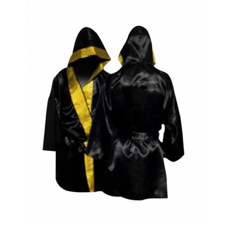 Batin de boxeo de satén con capucha.