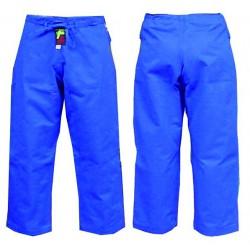 Pantalon judo Lady Master azul con corte de mujer.
