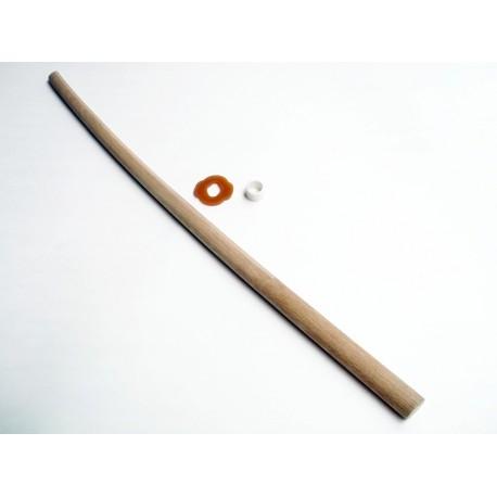 Bokken blanco de roble con tsuba, calidad de Japón, 101 cms.