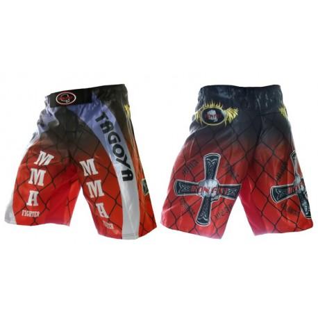 Pantalon MMA y luchas de satén estampado.