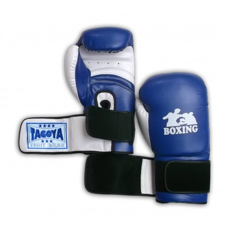 Guantes Power azul y blanco
